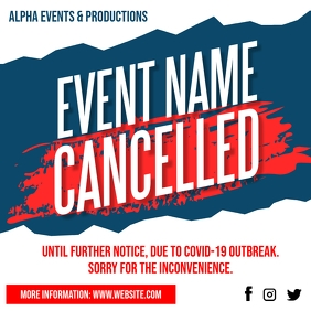 Cancelled Event Notice Social Media Post Ad template