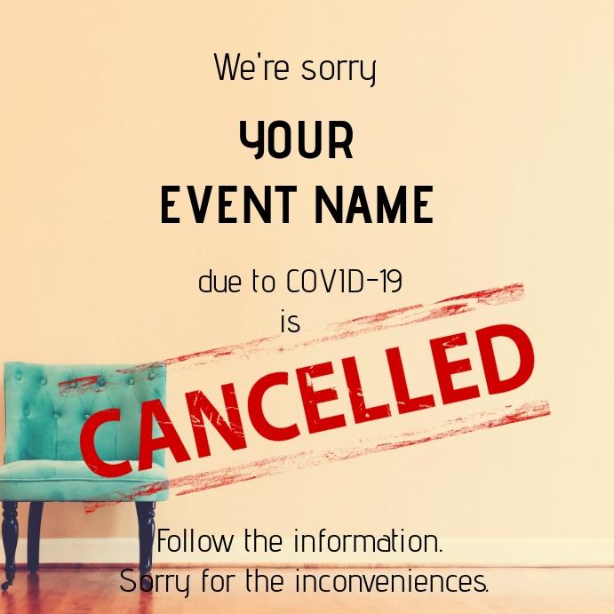 Cancelled event_4 โพสต์บน Instagram template