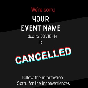 Cancelled event_digital Instagram Post template