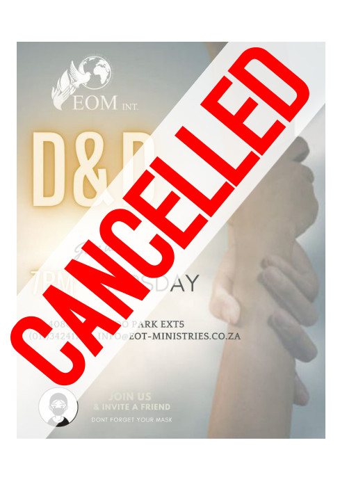 Cancelled Flyer A4 template