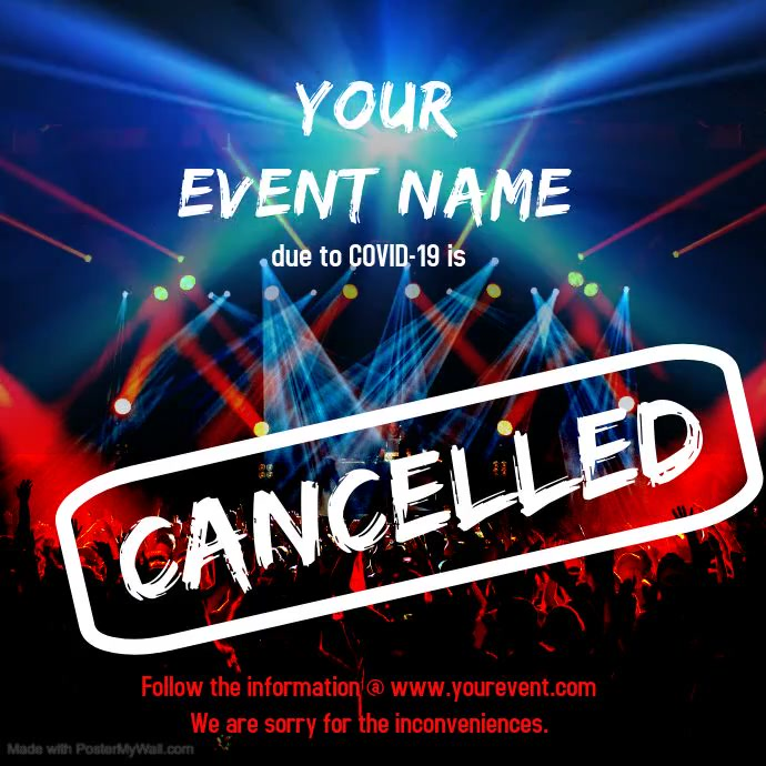 Cancelled_concert_digital โพสต์บน Instagram template