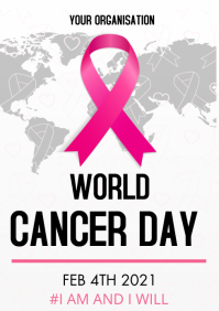 cancer day 2021 A3 template
