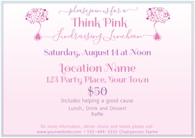 Cancer Fundraiser for Women Postcard template