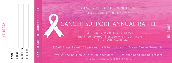 Cancer Support Ticket Cover na Larawan ng Facebook template