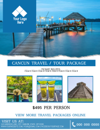Cancun Tour / Travel Flyer Template