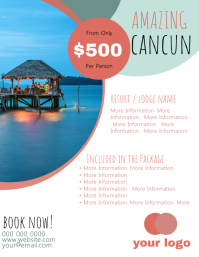 Cancun Travel Flyer Template