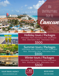 Cancun Travel Poster Flyer Template