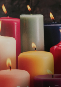 Candle Sales eye-catching flyers for the candle industry