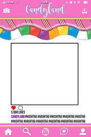 Candyland Party Prop Frame