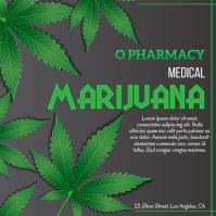 Cannabis, Medical Marijuana Instagram Post template
