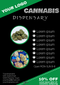 cannabis dispensary Flyer Template a4