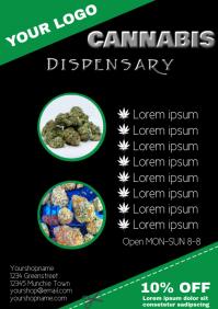 cannabis dispensary Flyer Template a4