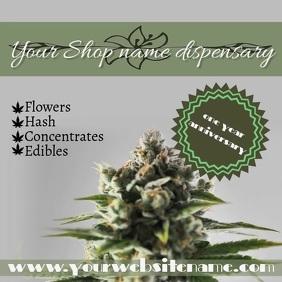 Cannabis dispensary instagram post template