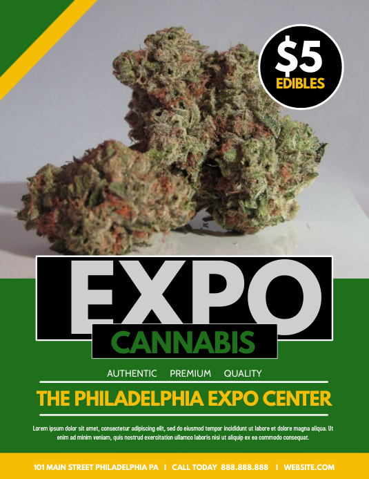 CANNABIS EXPO Flyer (US Letter) template