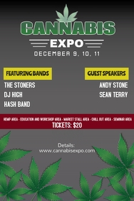 Cannabis expo flyer tempate Póster template