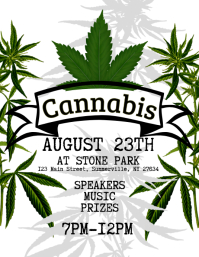 Cannabis Flyer template