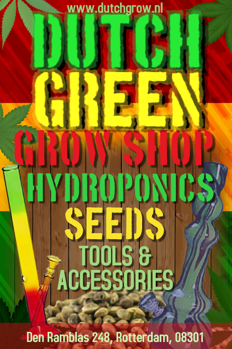 cannabis grow shop flyer template