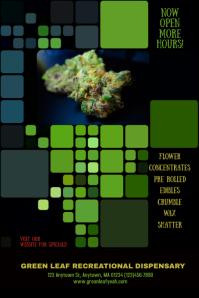 Cannabis Marijuana Weed Dispensary Flyer Ad
