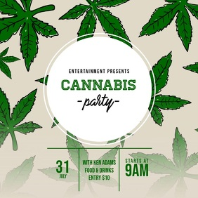 Cannabis Party Video Ad Template