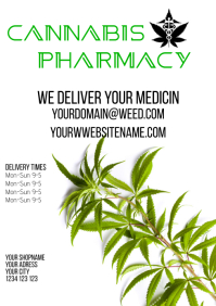 Cannabis Pharmacy delivery dispensary flyer