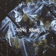 Cannabis RAP mixtape album cover template
