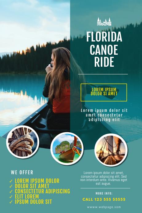 canoe kayak Ride Business Flyer Template