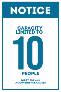 Capacity Limited to 10 people Sign Poster template