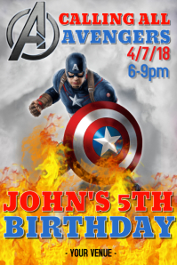 8,550+ Captain America Birthday Invitation Customizable