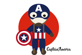 Captain America Poster template
