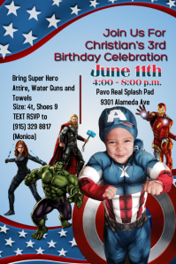 Customizable Design Templates for Captain America Birthday ...