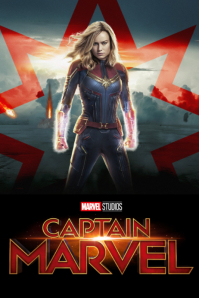 CAPTAIN MARVEL Poster template