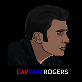 Captain Rogers Premium poster Cuadrado (1:1) template