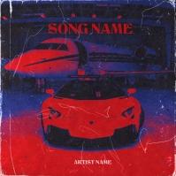 car airplane rap mixtape cover art design ปกอัลบั้ม template