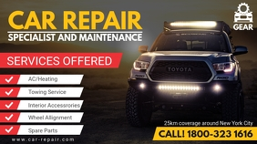 Car and Jeep Auto Repair Digital Ad template