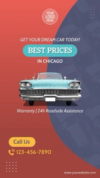 Car Auto Dealer Video Ad Digital Display (9:16) template