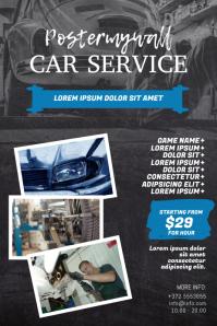 Car Auto Repair Service Flyer Design Template