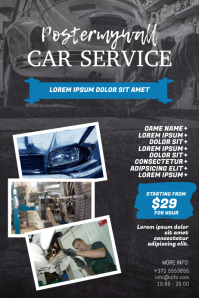 Car Auto Repair Service Flyer Design Template