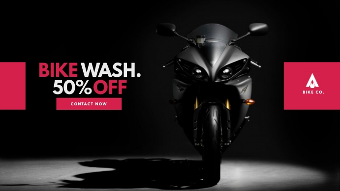 Car/Bike Wash/Service Video Ad Digital na Display (16:9) template