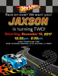 Car Birthday Invitation