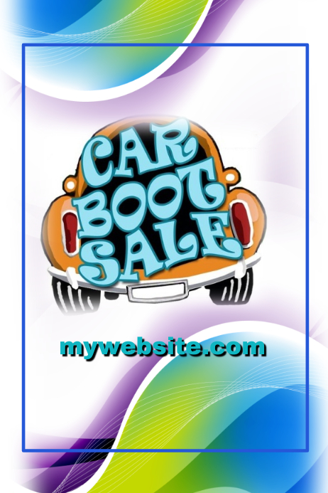 Car Boot Sale Event Flyer Template  Postermywall