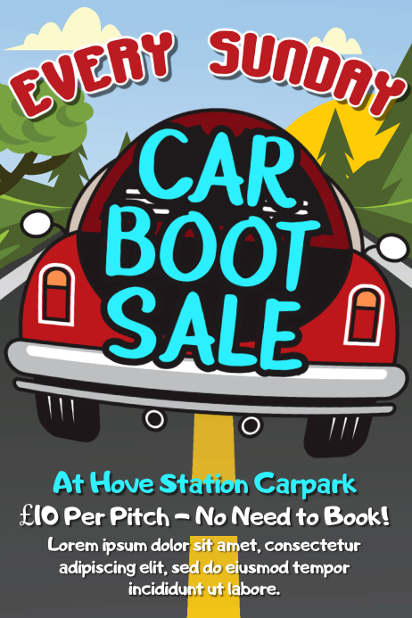 Car Boot Sale Flyer Template | PosterMyWall