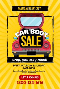 Car Boot Sales Poster Flyer Template