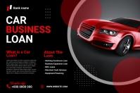 Car Business loan banner template