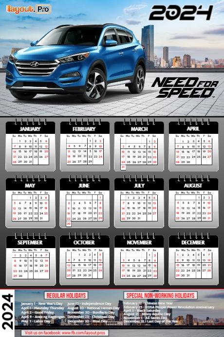 2021 Car Calendar Car Calendar 2021 Template | PosterMyWall