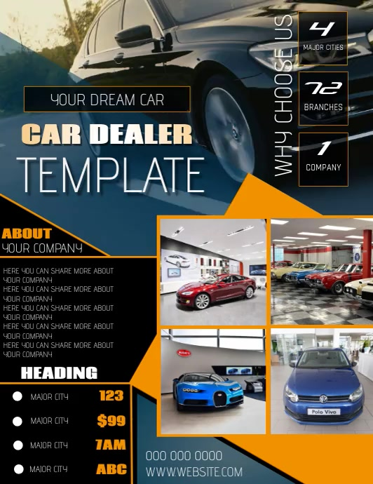 CAR CARS BUSINESS FLYER TEMPLATE ใบปลิว (US Letter)