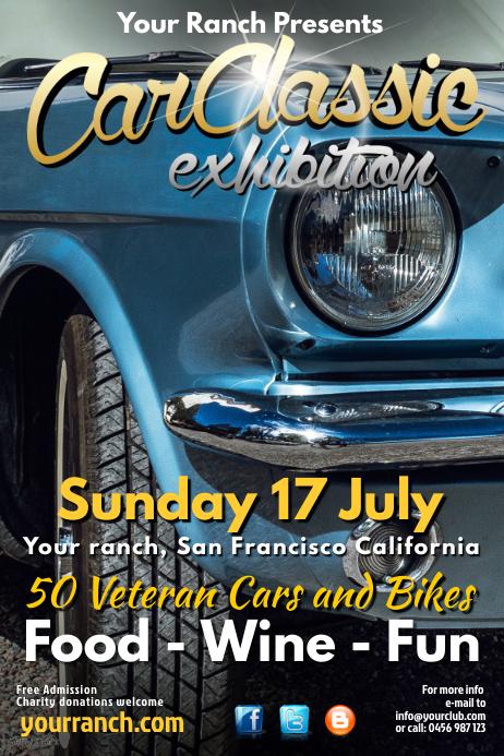 car classic poster