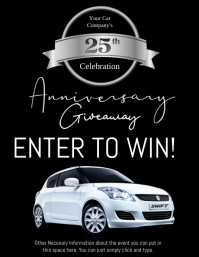 Car Company Birthday Anniversary Flyer template