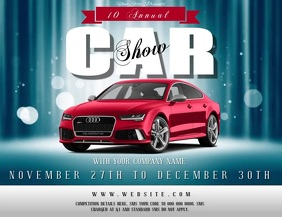 Car Competition Flyer Template