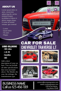 Car deal flyer: Contains both car listing and business presentation at a time