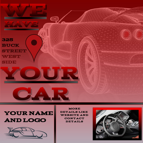 CAR DEALERSHIP AD \FLYER/POSTER